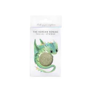 Konjac Sponge Co Mythical Dragon Konjac Sponge with French Green Clay & Hook.