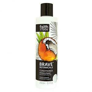 Faith In Nature Brave Botanicals Coconut and Frangipani Moisture Boost Conditioner
