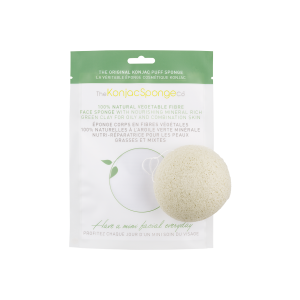 The Konjac Sponge Co Konjac Facial Puff Sponge with Green French Clay