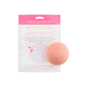The Konjac Sponge Co Konjac Facial Puff Sponge with Pink French Clay