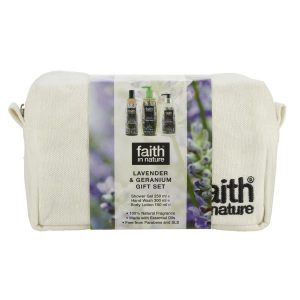 Faith in nature lavender and geranium gift set