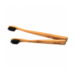 PearlBar Childrens Bamboo and Charcoal Toothbrush 100% Biodegradable