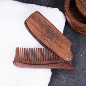 Mr Masey's Emporium of Beards Rosewood Folding Beard Comb