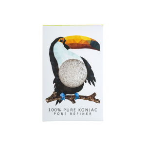 The Konjac Sponge Co Mini Pore Refiner Rainforest Toucan Sponge