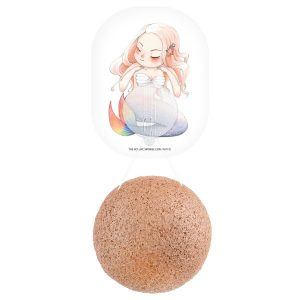 The Konjac Sponge Co Mythical Mermaid Konjac Sponge with French Pink Clay & Hook
