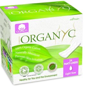 Organyc Cotton Panty liners Light Flow Individually wrapped Box of 24