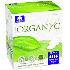Organyc Cotton Sanitary Pads Heavy Flow Box of 10