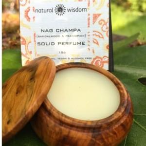 Natural Wisdom Nag Champa Sandalwood & Frangipani Solid Perfume