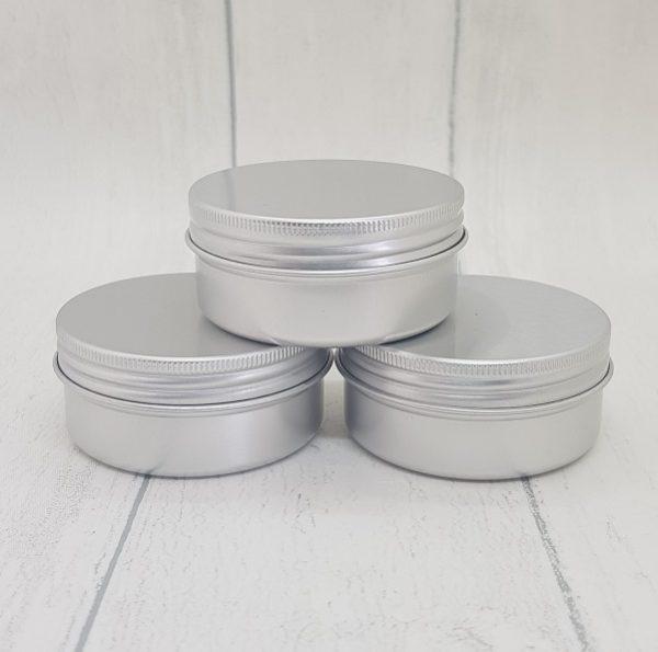 Small Travel Size Refillable Aluminium Pots
