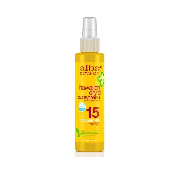 Alba Botanica Hawaiian Dry Oil Sunscreen SPF15