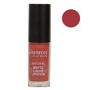 Benecos Matt Liquid Lipstick Rosewood Romance