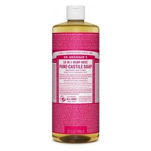 Dr Bronner Rose Pure Castile Liquid Soap