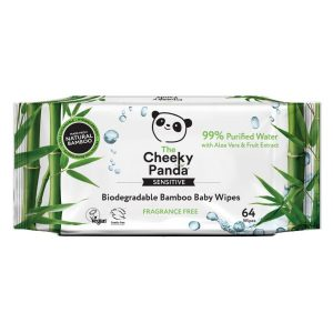 Cheeky Panda Biodegradable Bamboo Baby Wipes