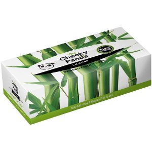 Cheeky Panda bamboo Tissue Flat Box