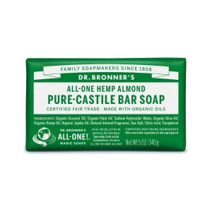 Dr Bronner Almond Pure Castile Bar Soap