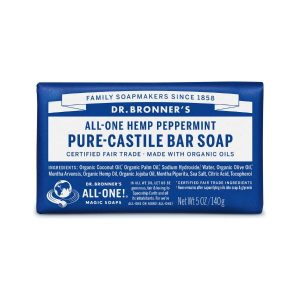 Dr Bronner Peppermint Pure Castile Bar Soap