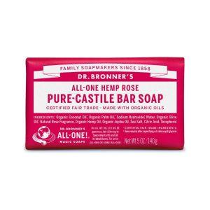 Dr Bronner Rose Pure Castile Bar Soap