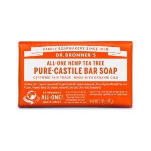 Dr Bronner Tea Tree Pure Castile Bar Soap