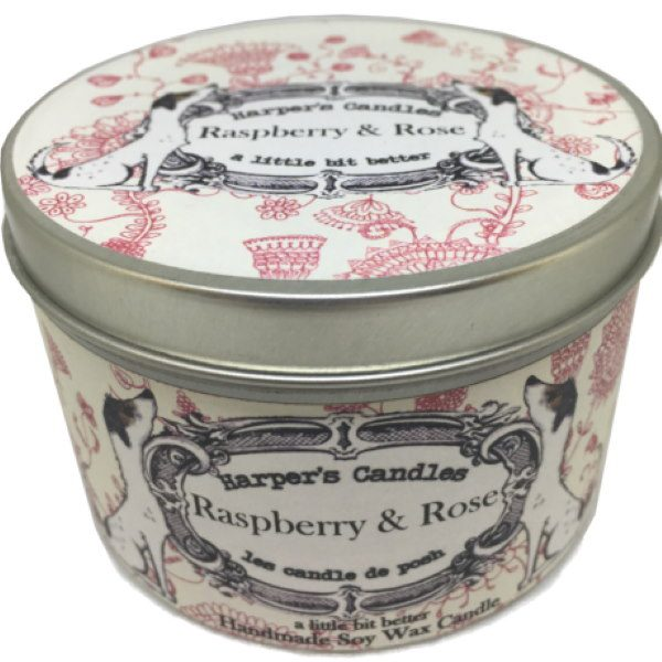 Harpers Candles Raspberry & Rose Large