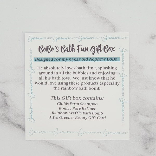 Greener Beauty BoBo's Bath Fun Gift Box