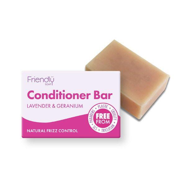 Friendly Soap Lavender and Geranium Conditioner Bar