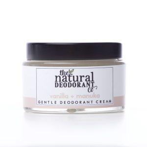 The Natural Deodorant Co Gentle Vanilla & Manuka 55g