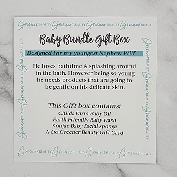 Greener Beauty Baby Bundle Gift Box