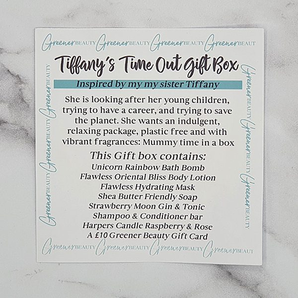 Greener Beauty Tiffany's Time Out Gift Box