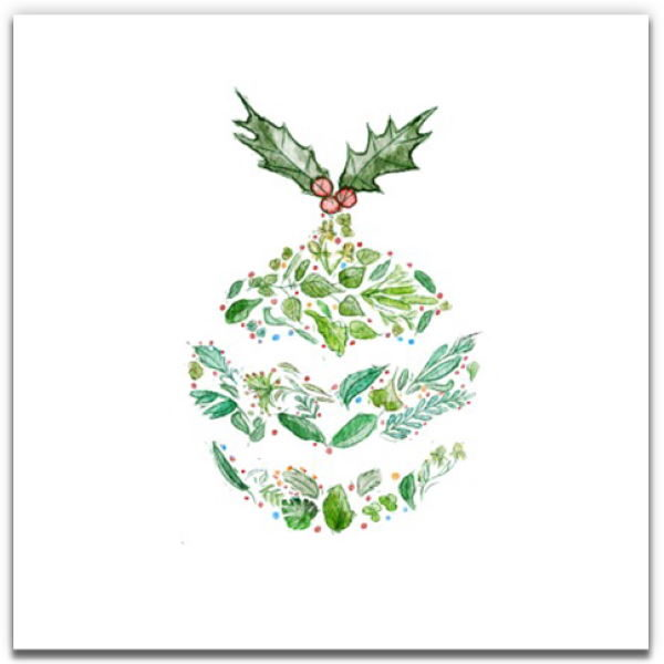 1 Tree Cards The Festive Collection Green Bauble