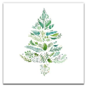 1 Tree Cards The Festive Collection Green Christmas Tree