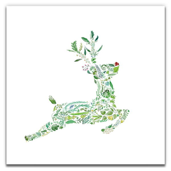 1 Tree Cards The Festive Collection Green Rudolph