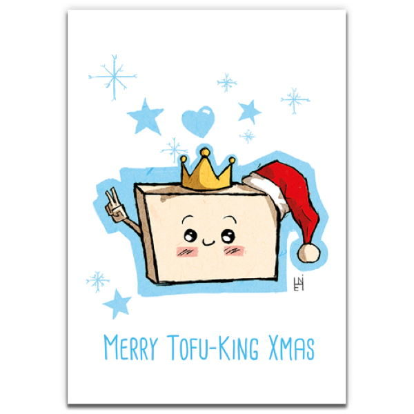 1 Tree Cards The Festive Collection Merry Tofu-King Xmas