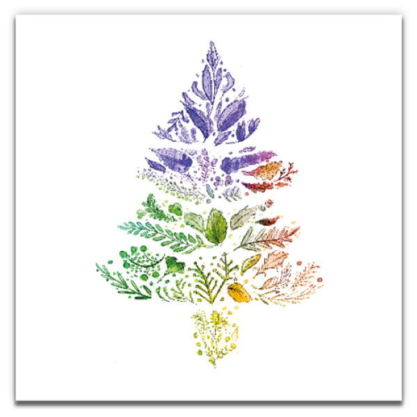 1 Tree Cards The Festive Collection Rainbow Christmas Tree