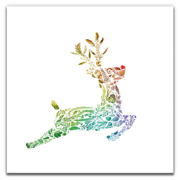 1 Tree Cards The Festive Collection Rainbow Rudolph