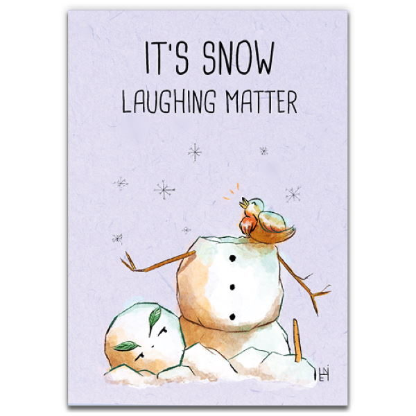 1 Tree Cards The Festive Collection Snow Laughing Matter