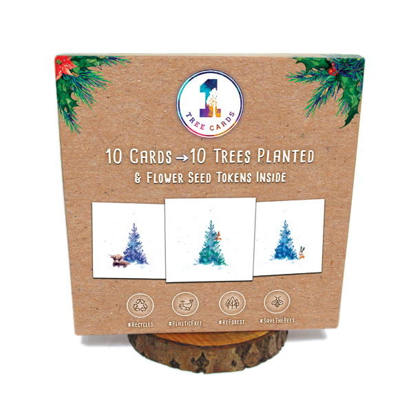 1 Tree Cards Tree Wishes Festive Box