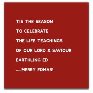 1 Tree Cards The V Word Merry Edmas