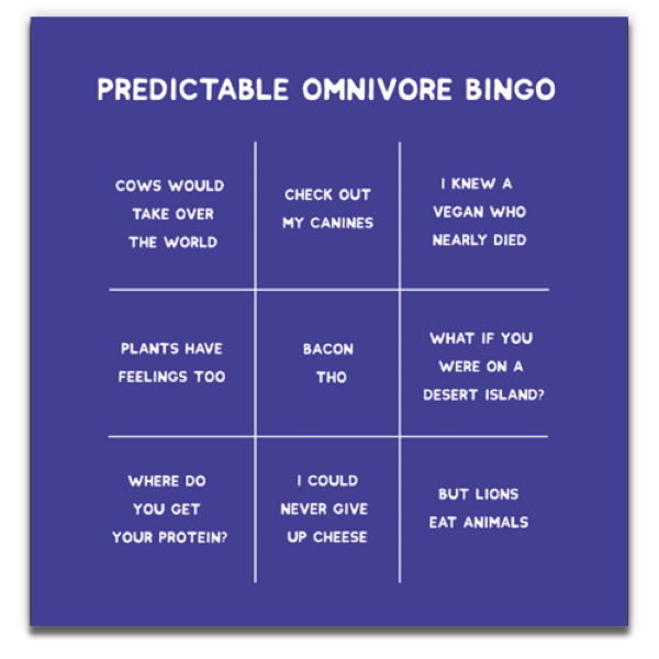 1 Tree Cards The V Word Omnivore Bingo