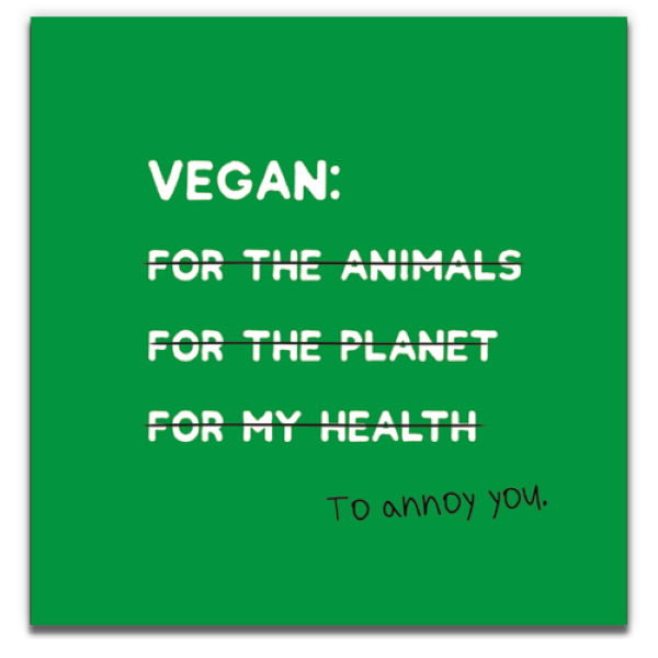 1 Tree Cards The V Word Vegan to Annoy You