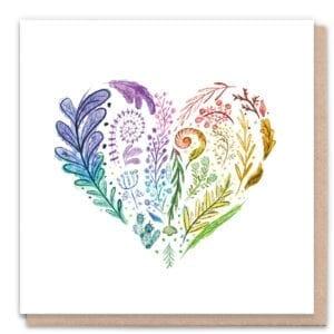 1 Tree Cards Rainbow Heart