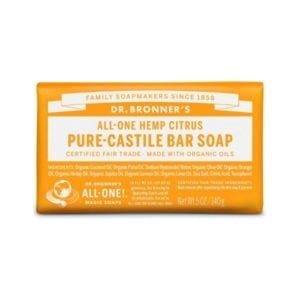 Dr Bronner Citrus Pure Castile Bar Soap