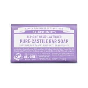 Dr Bronner Lavender Pure Castile Bar Soap