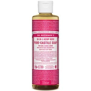 Dr Bronner Rose Pure Castile Liquid Soap