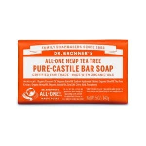 Dr Bronner Tea Tree Pure Castile Bar Soap