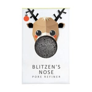 The Konjac Sponge Co Mini Pore Refiner Blitzen's Nose with Bamboo Charcoal
