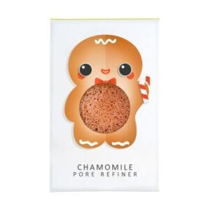 The Konjac Sponge Co Mini Pore Refiner Gingerbread Man with Chamomile
