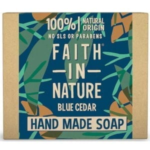 Faith In Nature Blue Cedar Soap For Men