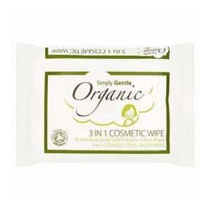 Simply Gentle Organic Gentle 3 in 1 Cosmetic Wipe