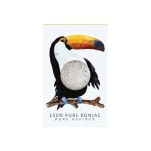 The Konjac Sponge Co Mini Pore Refiner Rainforest Toucan