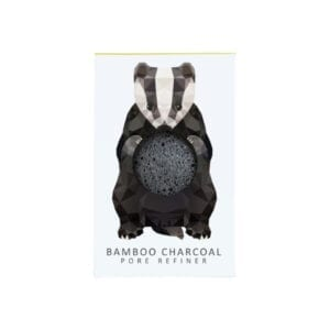 The Konjac Sponge Co Mini Pore Refiner Woodland Badger with Bamboo Charcoal